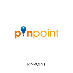 pinpoint logo isolated on white background for your web, mobile and app design