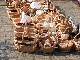 Koszyki świąteczne na świątecznym kiermaszu