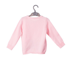 Childrens knitted blouse.