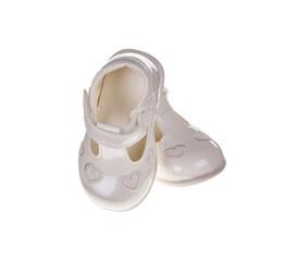 Childrens white shoes.