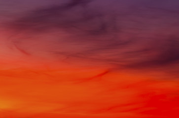Beautiful sunset with colorful clouds on the sky