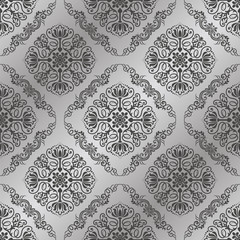 Vintage seamless pattern. Damask wallpaper