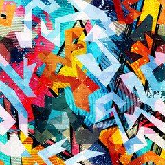 Keuken foto achterwand Graffiti abstract color pattern in graffiti style. Quality vector illustration for your design