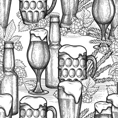Graphic beer pattern