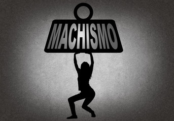 Woman bearing the weight of machismo