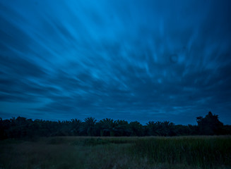 movement of the cloud when twilight