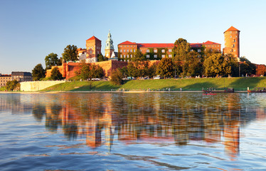 View of the ancient Krakow's castle