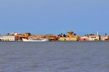 Senegal River and the city of Saint Louis, Sengal