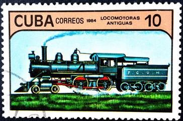 CUBA - circa 1984 - locomotive.