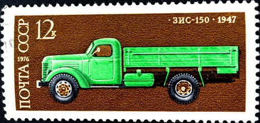 USSR - Circa 1976 -  old truck car ZIS-150 1947.