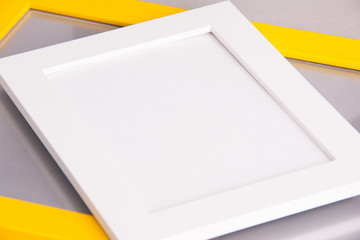 frame photo white and yellow