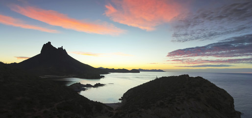 A Scenic View from Mirador Lookout, San Carlos, Sonora, Mexico