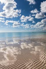 Paradise beach mirroring