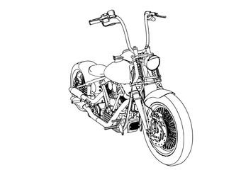 sketch of a motorcycle vector