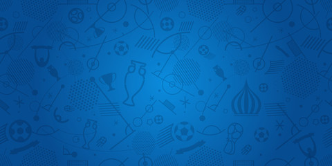 Different football silhouettes abstract background