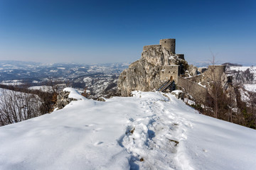 medieval fort in winter