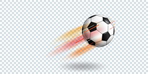 Soccer ball on transparent background vector illustration
