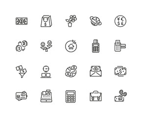 Buy and sell icon set