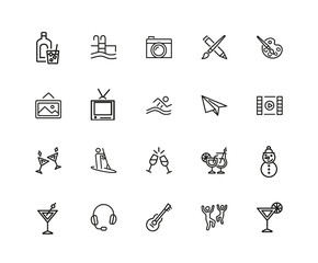 Entertainments icon set