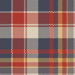 Tartan coarse fabric texture seamless pattern