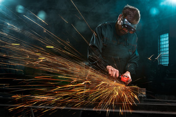 industrial worker with tools