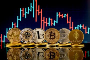 Physical version of Cryptocurrencies (Monero, Ripple, Litecoin, Bitcoin, Dash, Ethereum).