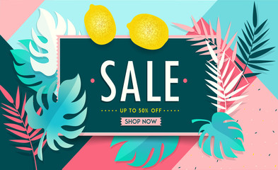 Sale Floral Banner. Paper cut Floral card. Spring blossom. Happy Women's Day. 8 March. Text. Seasonal holiday. Spring Sale Poster, voucher discount. Memphis style spring summer flyer easy editable.