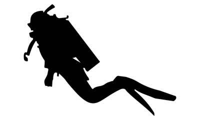 vector image of a divers silhouette E