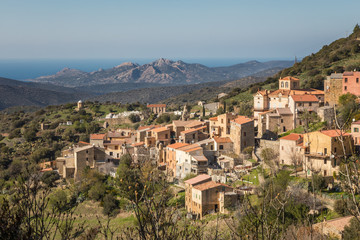 Village of Novella in Balagne region of Corsica