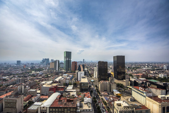 Panoramic view of historical building in Mexico City