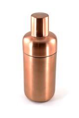 Trendy and modern copper martini shaker