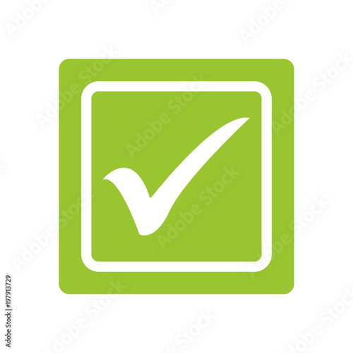 Green tick  Green check mark  Tick symbol, icon, sign in green color