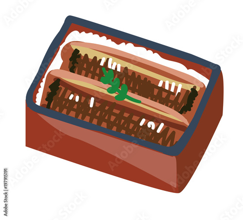 うな重のイラスト素材 Stock Image And Royalty Free Vector Files On