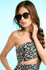 Women Style. Sexy Woman In Fashion Sunglasses.