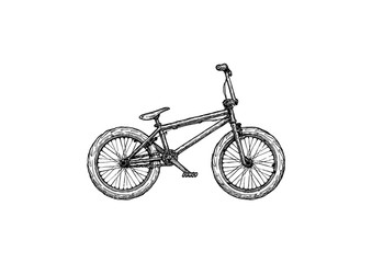 illustration of BMX bike