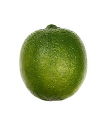 Lime isolated on white background, clipping path