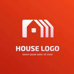 Logo design abstract house vector template