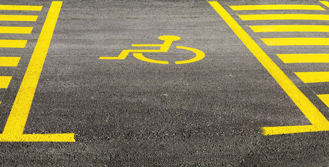 Parking space for disabled people