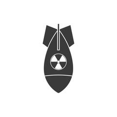 Nuke bomb icon. Vector.