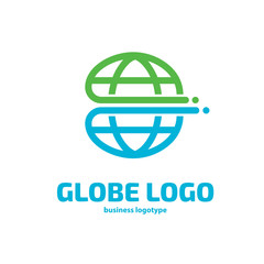 Logo design globe vector template