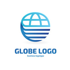 Logo design globe vector template