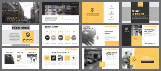 Twelve Banking Slide Templates Set