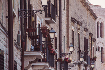 Street lamps in the old district