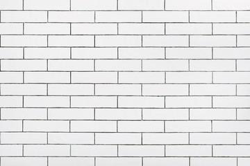 White ceramic tile wall background