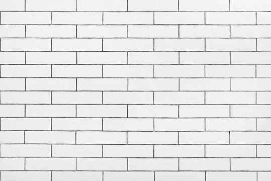 White ceramic tile wall background