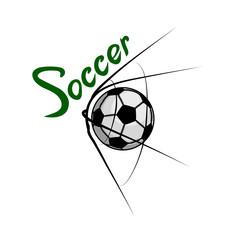 Soccer logo. Soccer lettering.
