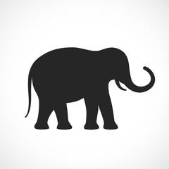 Elephant vector cartoon icon