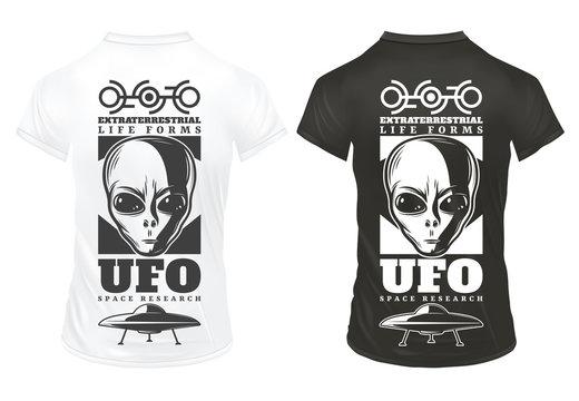 Vintage UFO Print Template