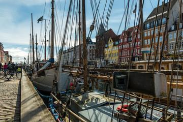 schiffsmasten und taue in Kopenhagen
