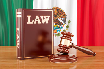 Mexican law and justice concept, 3D rendering
